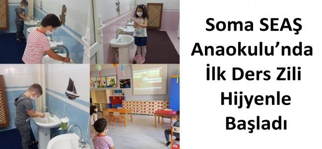 Soma SEAŞ Anaokulu'nda İlk Ders Zili Hijyenle Başladı