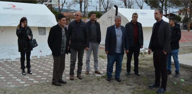 SOMA TSO'DAN DEPREM BÖLGESİNE ZİYARET