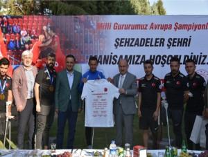Avrupa Şampiyonu Türkiye Millî Ampute Futbol Takımı Manisa'da