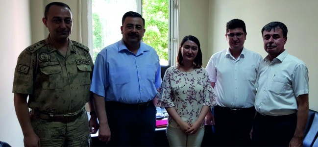 Başkan Gedüz'den Süresi Dolan Hakime Veda Ziyareti