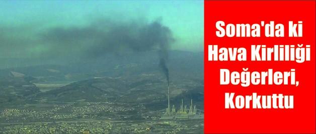 Soma'da ki Hava Kirliliği Değerleri, Korkuttu