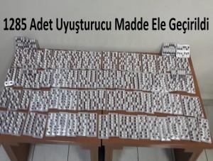 1285 Adet Uyuşturucu Madde Ele Geçirildi