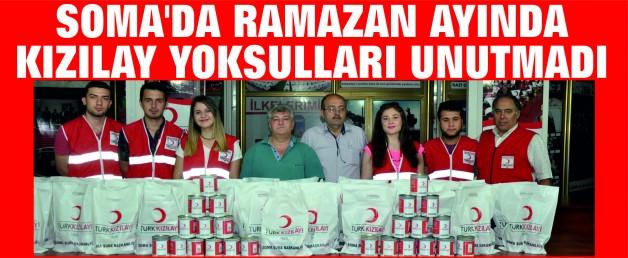 SOMA'DA RAMAZAN AYINDA KIZILAY YOKSULLARI UNUTMADI