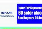 İşkur TYP Kapsamında 60 şoför alacak  Son Başvuru 01 Aralık