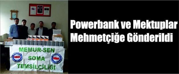 Powerbank ve Mektuplar Mehmetçiğe Gönderildi