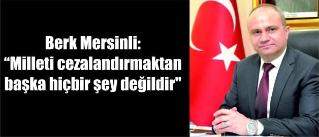 Berk Mersinli: Manisa Büyükşehir Belediyesi 17 ilçenin tamamına hizmet götürmekle yükümlüdür