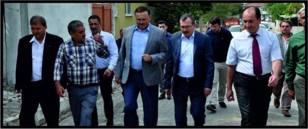 UĞUR AYDEMİR SOMA'DA İNCELEMELER YAPTI