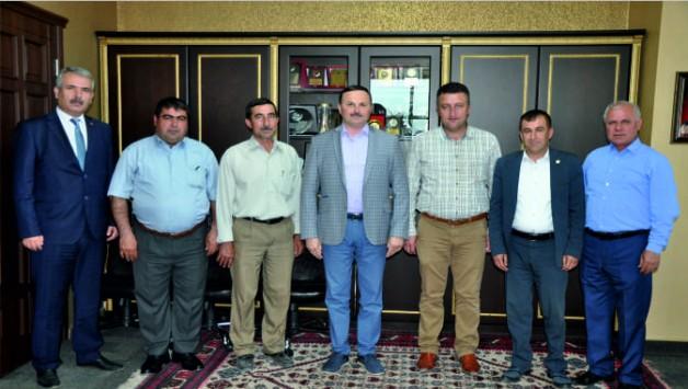 Muhtarlar Başkan Ergene'yi Ziyaret Etti