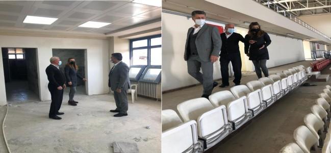 Soma Muzaffer Ecemiş  Kapalı Spor Salonu  Yenilendi