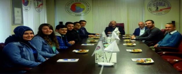 FATİH'İN ÖĞRENCİLERİ, İSPANYA'DAN DÖNÜŞTE SOMA TSO'YU ZİYARET ETTİ