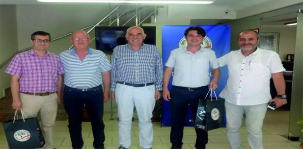 İLÇE TARIM MÜDÜRLERİ SOMA TSO'YU ZİYARET ETTİ