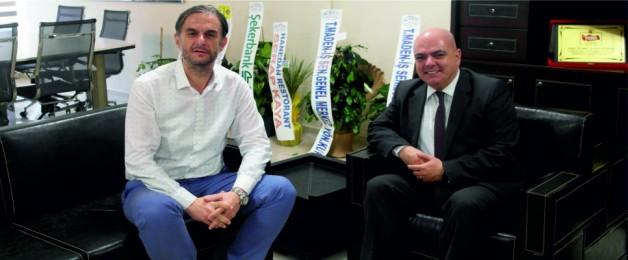 SOMA HALKBANKASI MÜDÜRÜ, SOMA TSO'YU ZİYARET ETTİ