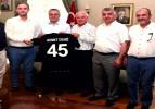 TFF 3. Lige Çıkan Soma Spor Yetkilileri Vali Deniz'i Ziyaret Etti