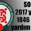 SOMA'DA 2017 yılında 1846 kişiye yardım edildi