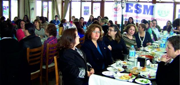 """ESM Soma """"Emekçi Kadınlar Gününü"""" Kutladı"""