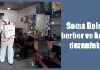 Soma Belediyesi berber ve kuaförleri dezenfekte etti