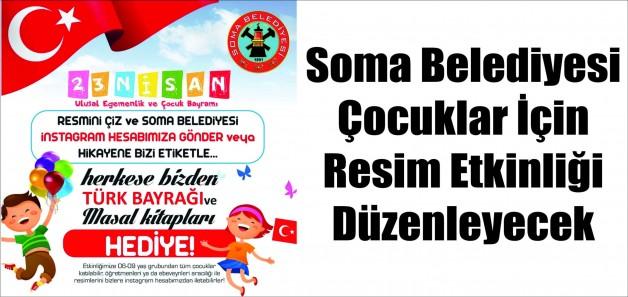 Soma Belediyesi, Çocuklar İçin Resim Etkinliği Düzenliyor