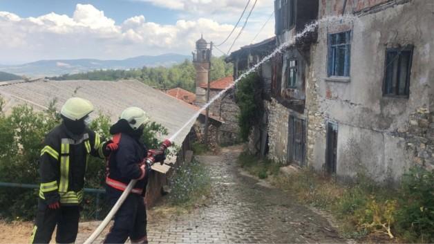 Tarihi Darkale'de yangın tatbikatı