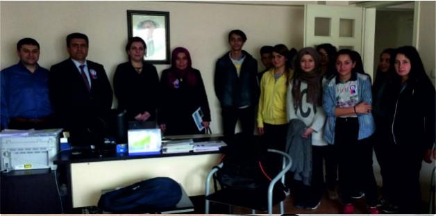 Soma Fatih MTA Lisesi Öğrencileri Vergi Dairesi Müdürlüğünü Ziyaret Ettiler